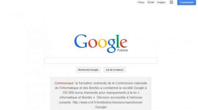 Google.fr must place on home page notice of privacy fine