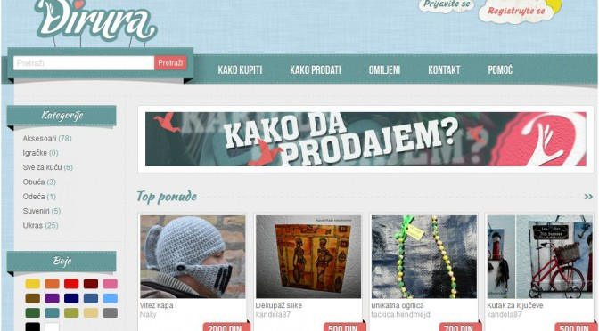 Handmade products site Dirura has been launched for ex-Yugoslavian region