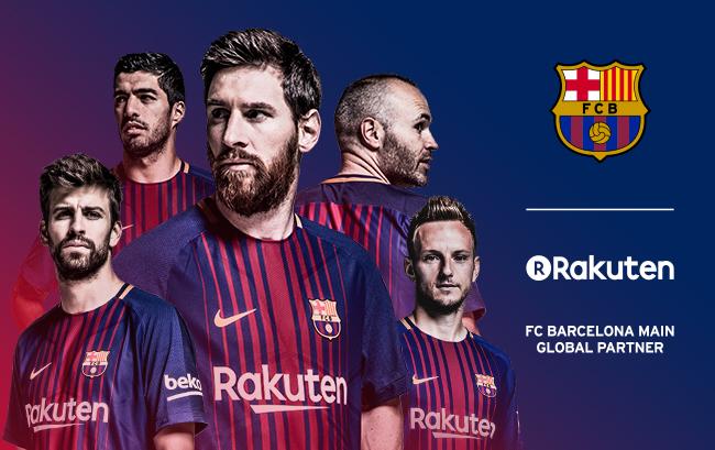 Rakuten FC Barcelona jersey sponsorship